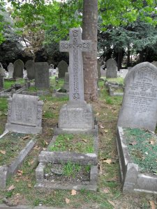 William Evans Darby's gravestone at the City of London Cemetery, buried 13 November 1922